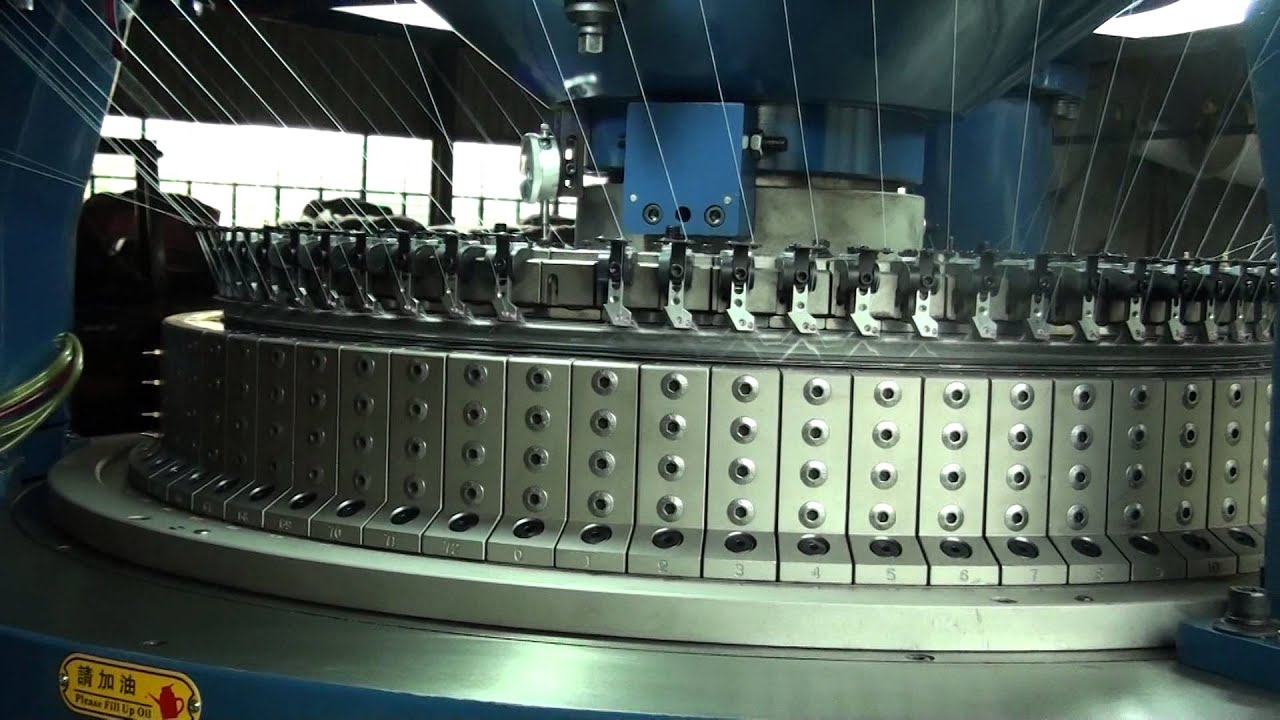 Double Knitting In The Round Youtube : Double jersey interlock rib circular knitting machine