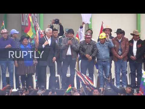 Bolivia: Morales thanks supporters for having his back against 'coup d'etat'