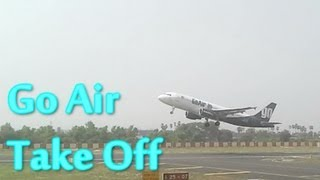 Powerful Takeoff Go Air Airbus A320