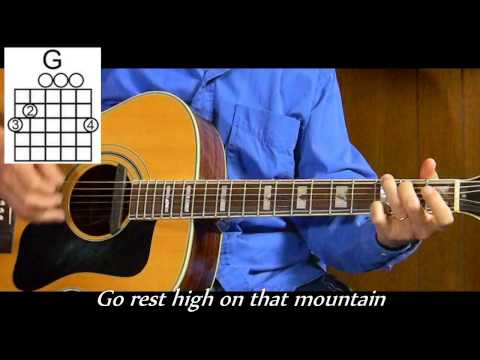 How to Play Go Rest High On That Mountain - Vince Gill - Easy - T22