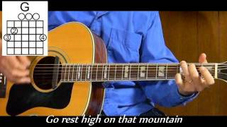 Vince Gill - How to Play Go Rest High On That Mountain - Easy Country Acoustic Guitar Lessons