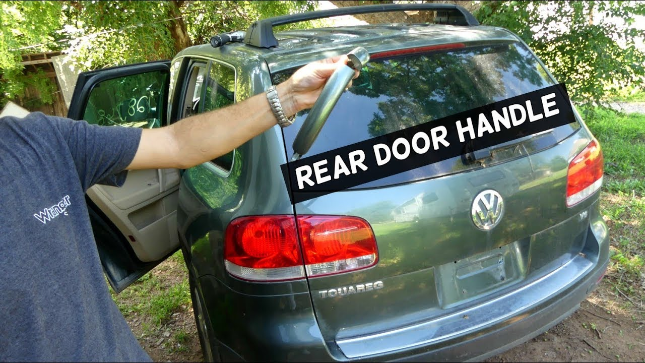 HOW TO REMOVE EXTERIOR REAR DOOR HANDLE ON VW TOUAREG - YouTube