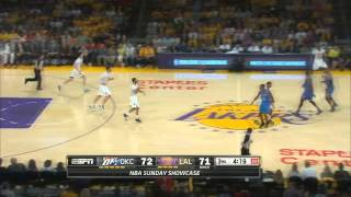jodie meeks scores 42 points lakers vs thunder 3 9 2014 lil b kevin durant diss
