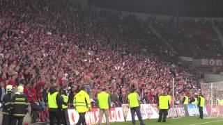 TRIBUNA SEVER - závěrečných 20 minut derby SLAVIA - sparta 1:0 + oslavy (29.9.12) 1/2