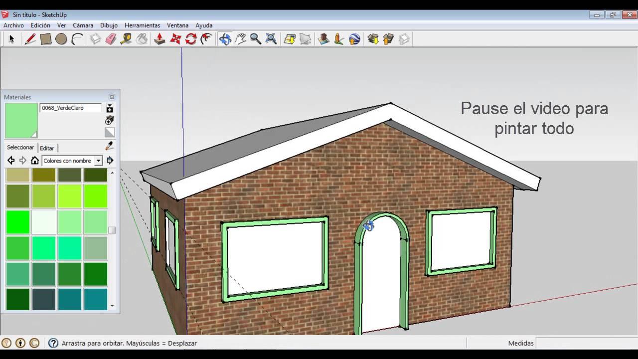 Sketchup como hacer una casa basica youtube for Hacer tu casa en 3d