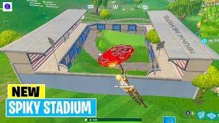 Fortnite New Spiky Stadium (Battle Royale - Playground) Gameplay | patch v5.41