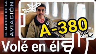 2017. Mi primer vuelo en el flamante Airbus A 380.