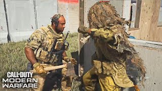 """All Operator Takedown on """"ALL GHILLED UP' Uniform (DLC) - Call of Duty: Modern Warfare"""