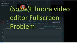 How to solve filmora video editor problem | full screen problem | exporting problem
