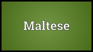 Maltese Meaning