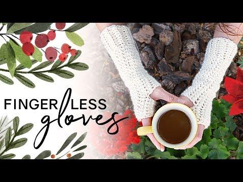 How To Crochet Fingerless Gloves — EASY For Beginners