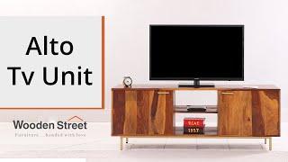 Wooden Tv Units: Alto Tv Unit Design By Wooden Street
