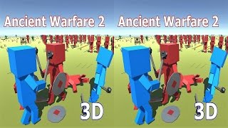 3D VR box TV Ancient Warfare 2  video Side by Side SBS google cardboard