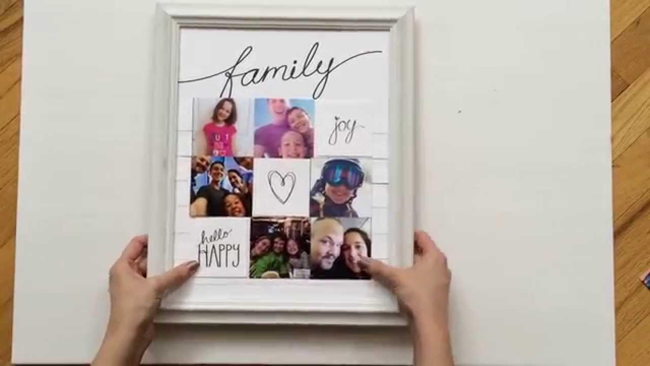 Family Collage Photo Frame - YouTube