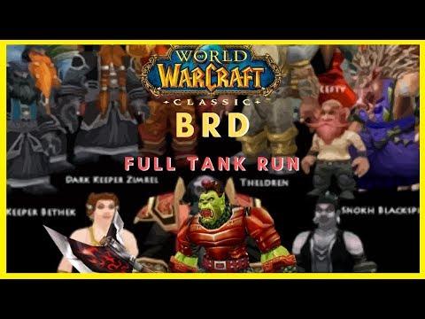 WoW Classic: Running BRD as a Prot Warrior Tank - Full Run Blackrock Depths