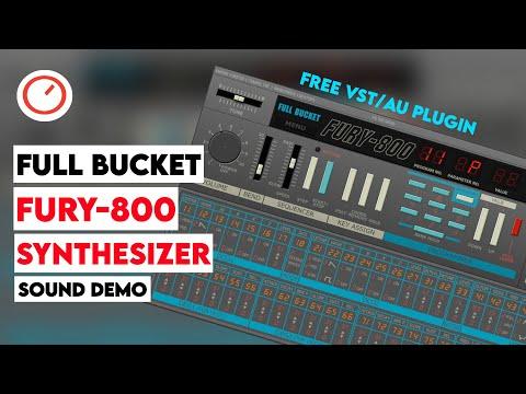Full Bucket Music FURY-800 Synthesizer Sound Demo - Free VST/AU Plugin (Korg Poly-800 Emulation)