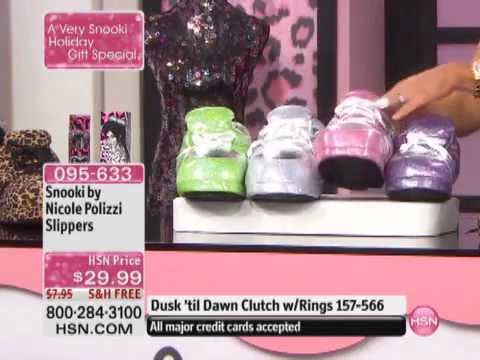 7d68f809fdb6 Snooki by Nicole Polizzi Sequin Sneaker Slippers - YouTube