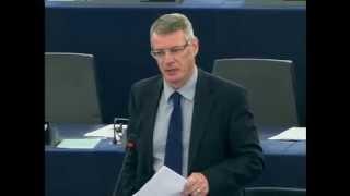 David Martin MEP speaking during TTIP debate in European Parliament