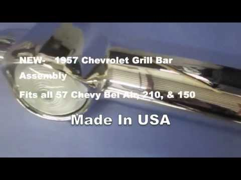 1957 Chevy Grill Bar Assembly  Bel Air 210 & 150 NEW Complete Hardware for sale