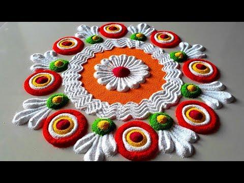 Colourful and Simple Rangoli Designs For Diwali Festival | इस दिवाली पर बनाये सुन्दर रंगोली -