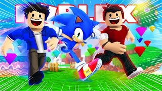 SONIC-WE GOT THE CHAOS EMERALDS AT ROBLOX