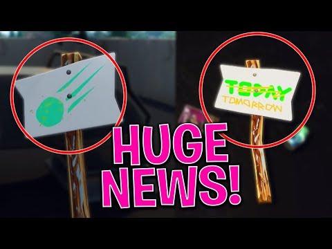 METEOR HITTING TILTED TOWERS TONIGHT!? *HUGE NEWS LEAK* FORTNITE BATTLE ROYALE PS4 LIVESTREAM