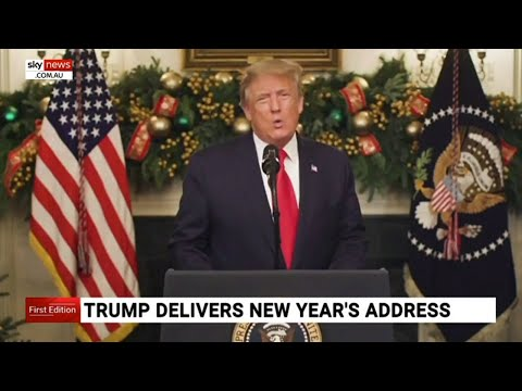 Trump delivers New Year's address