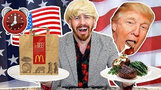 I Only Ate Like Donald Trump For 24 Hours!! (IMPOSSIBLE FOOD CHALLENGE)