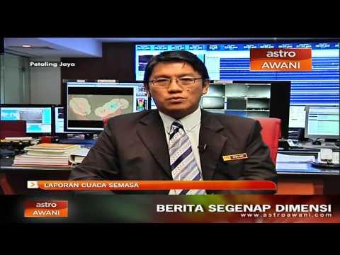 Laporan cuaca semasa di Malaysia