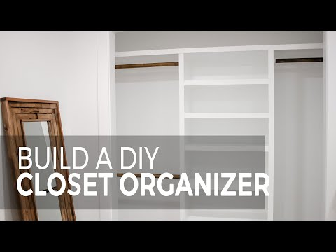 Build a DIY closet organizer