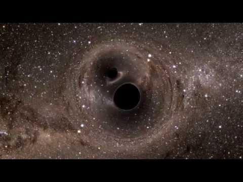 Merging black holes: Top view - YouTube