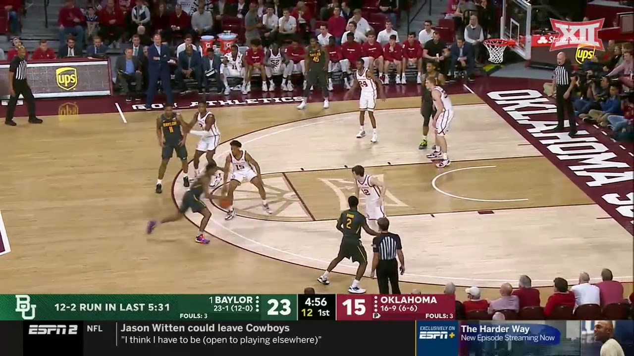 Baylor at Oklahoma Men's Basketball Highlights