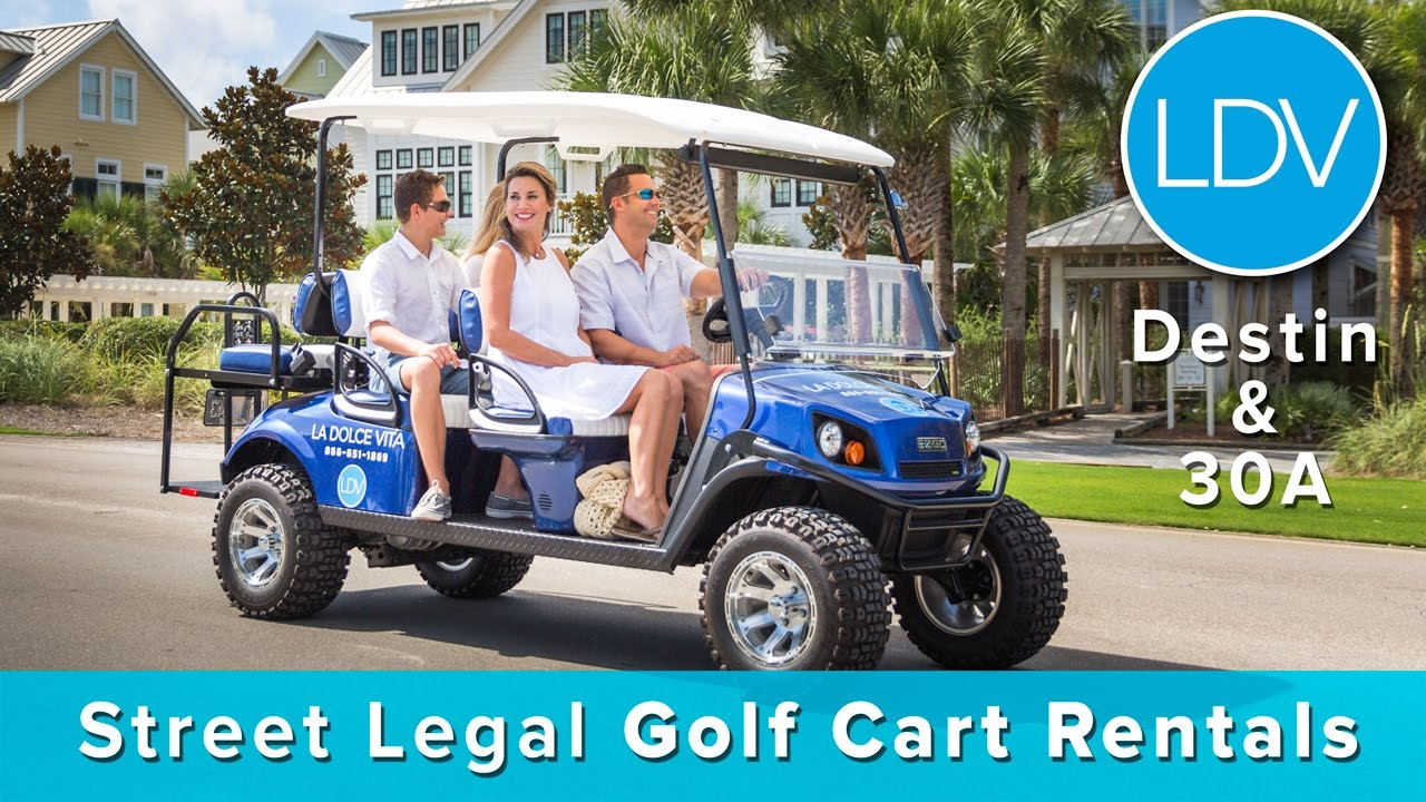 Golf Cart Rentals La Dolce Vita Destin Florida Youtube