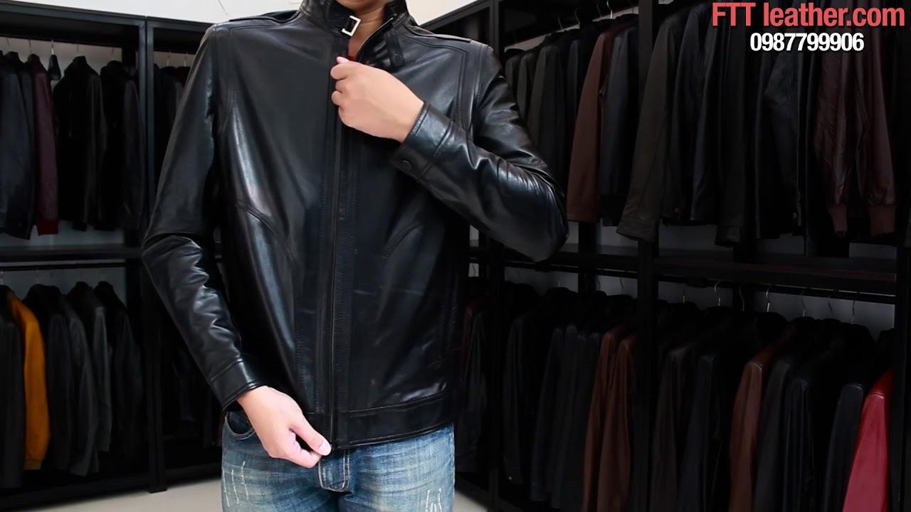 Áo da cao cấp, áo da nam hàng hiệu chất liệu da cừu 100% bảo hành da thật trọn đời