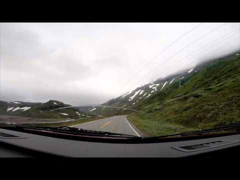 Unterwegs im Norden - Kamerafahrt auf dem Aurlandsvegen
