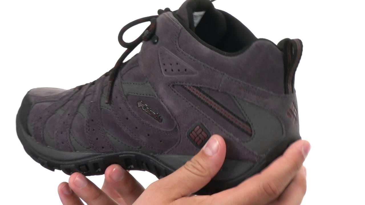 6688e572a0d Columbia Redmond Mid Leather Omni-Tech SKU 8701786 - YouTube