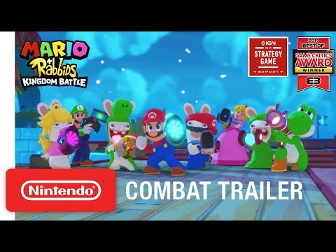 Mario + Rabbids Kingdom Battle: Combat Gameplay Trailer - Nintendo Switch