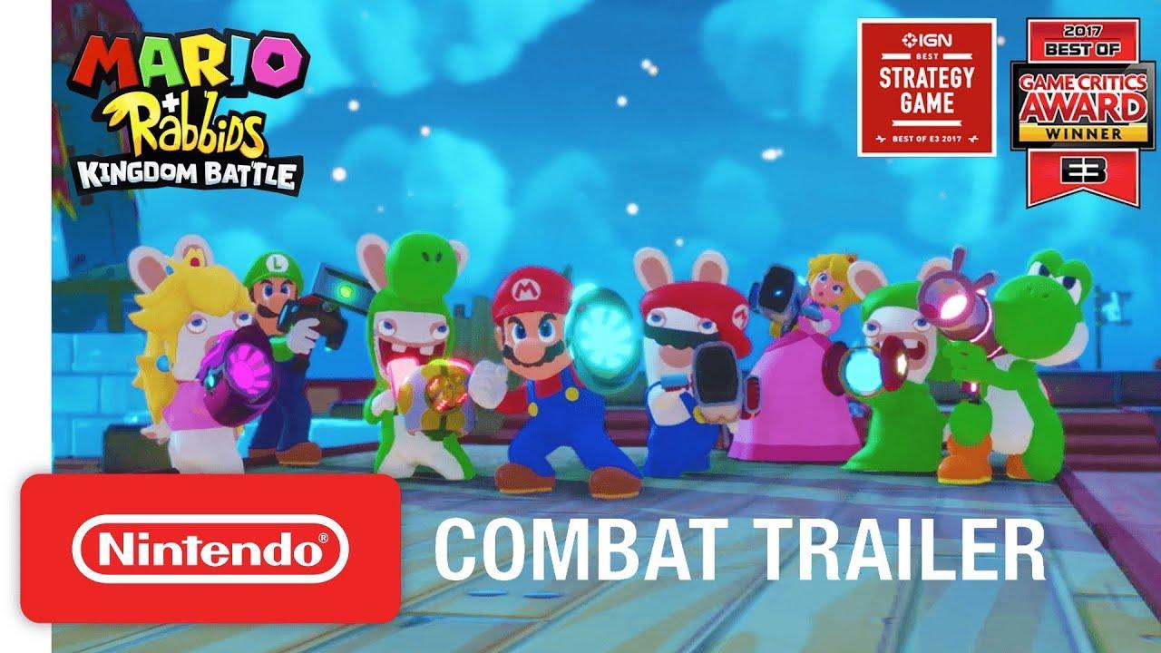 aafb06a83249 Mario + Rabbids Kingdom Battle  Combat Gameplay Trailer - Nintendo ...