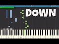 Marian Hill - Down - Piano Tutorial  (Apple AirPods Song)