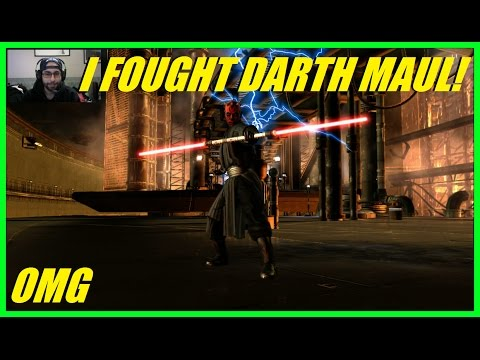 I FOUGHT DARTH MAUL! | His lightsaber combat is amazing! - Star Wars The Force Unleashed