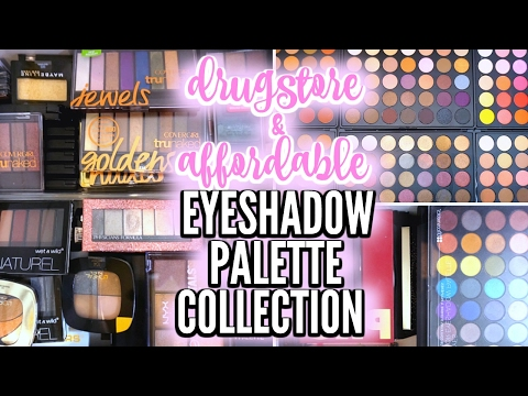 MAKEUP COLLECTION 2017 | Drugstore & Affordable Eyeshadow Palettes ♡ Deanna Borocz