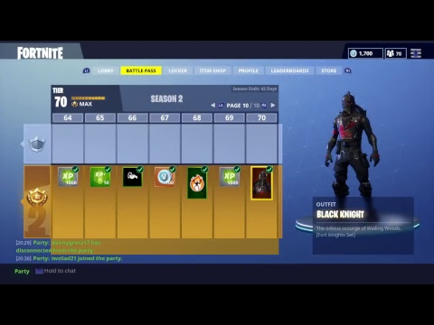 Fortnite.Buying Black Knight