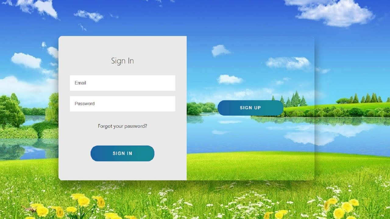Beautiful Login Form In HTML and CSS | HTML Login Form Design 2021