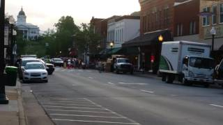 Three Billboards Outside Ebbing Missouri - behind the scenes in Downtown Sylva, NC