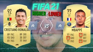 HIGHER OR LOWER, ALE JE TO FIFA 21!