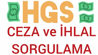 HGS Ceza ve İhlal sorgulama