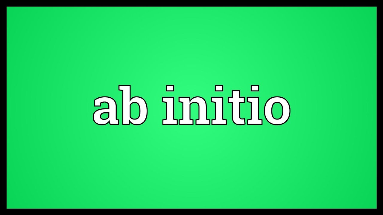 Ab initio Meaning - YouTube