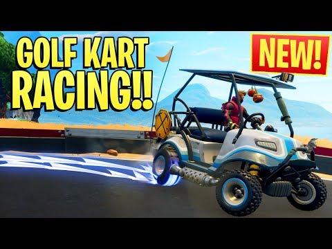 *NEW* GOLF KART RACING IN FORTNITE!! ft. NoahJ & HighDistortion (Season 5 Squads Win)