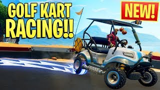 *NEW* GOLF KART RACING IN FORTNITE!! ft. NoahJ & HighDistortion (Season 5 Squads Win)