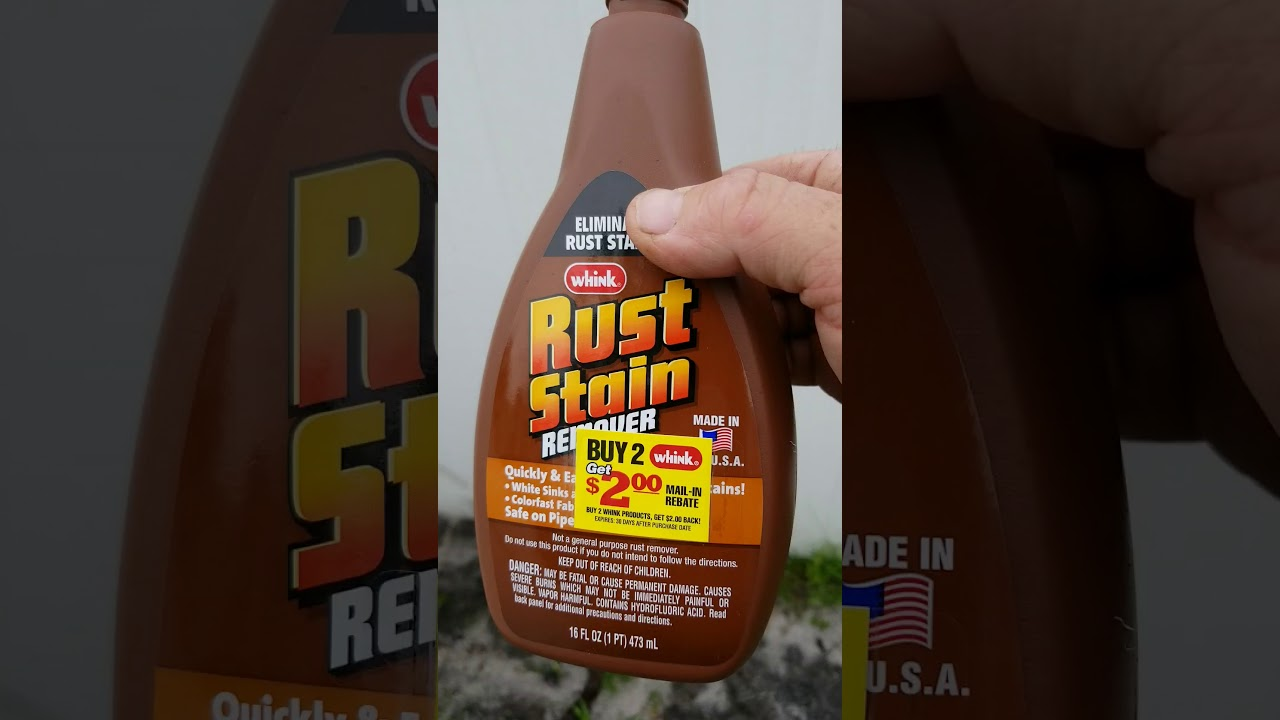 Remove Rust Hard Water Stains It Works On Vinyl Siding